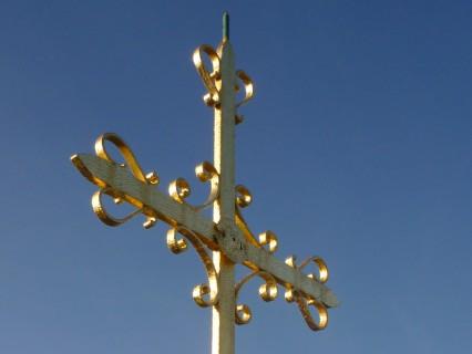 Turmkreuz – Blattvergoldung